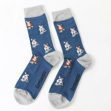 ENGLISH BULL TERRIER MENS BAMBOO KNITTED MIX SOCKS ONE SIZE UK 8-10 GREAT GIFT