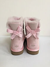 UGG CLASSIC MINI BAILEY BOW II METALLIC SEASHELL PINK BOOT US 5 / EU 36 / UK 3
