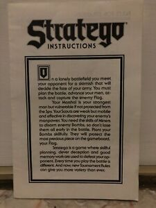 VINTAGE 1986 INSTRUCTION'S SHEET FOR STRATEGO BOARD GAME ONLY, NO GAME INCLUDED