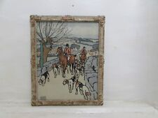 "John Edwin Noble Chromolithograph ""On The Way To The Meet"" Painted 1920's Frame"