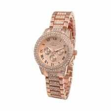 Reloj Diamantes oro imitación Bling rap trap fashion moda chico chica quartz