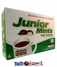 Junior Mints Premium Creamy Hot Chocolate Drink Mix 207g 10 Sachet Hot Cocoa Mix