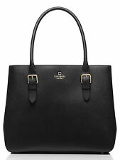 KATE SPADE Black Leather Cove Street Airel Handbag Purse Satchel NWT Retail $478