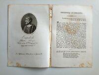 1817 Ortolani, Ritratto/Bio di Empedocle d'Agrigento, Filosofo, Sicilia - Etna