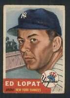 1953 Topps #87 Ed Lopat VGEX Yankees 87731