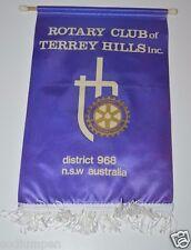 Vintage Terrey Hills Inc N.S.W. Australia Rotary International Club Banner Flag