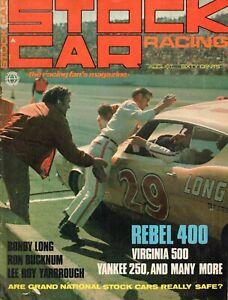 Stock Car Racing Magazine, August 1968 -  Bondy Long, LeeRoy Yarbrough*