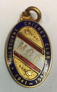 Vintage Melbourne Cricket Club Emanel Membership Medallion 1941-42