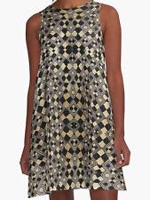 DESIGNER STYLE A-LINE DRESS ~ w/Exclusive Kuba Cloth Design #4 ~ Stylish Chic