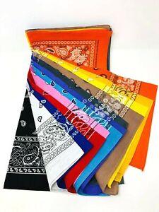 Bandana Head Wrap Scarf 100% Cotton The Color Pick up.
