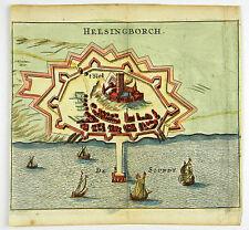 HELSINGBORG SCHWEDEN SWEDEN KOL KUPFERSTICH ANSICHT ZEILLER MERIAN 1656 #D863S