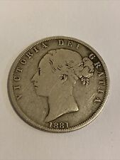 More details for coin: 1881 british half crown - victoria silver coin