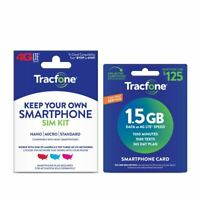 Tracfone 365 Days 1500 Minutes, 1500 Text, 1.5GB Data Annual Plan, SIM KIT