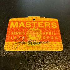 Rare Jack Nicklaus signed 1975 Masters Golf Badge Augusta With JSA COA
