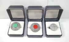 SCHILDKRÖT Zinn Boutique 3 Ringe Ring Damenring silber Modeschmuck ethno (K76)
