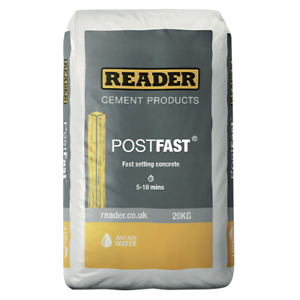 Post Mix   Fence Post Concrete   Pre Mixed   Reader   Postfast   20kg