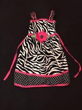 Youngland Girls Zebra Print Dress Lightly Used size 4T