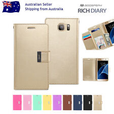 Samsung S8/Plus/S7/Edge S6 S5 Note 5/4/3 Mercury Leather Card Wallet Case Cover