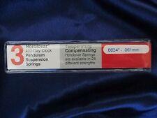 Schatz 54 1000 Day / Anniversary Clock .0024 Suspension Spring / Wire Horolovar