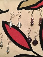 4 Pairs Handcrafted Jewelry by Gabrielle .925 Sterling Silver Hook Earrings LotD