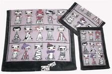 3 Cat Kitty Dress-up Hats Scarves Glasses Ties Velour Bath Hand Fingertip Towels