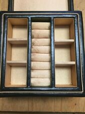 Wedgwood Black Leather Jewelry Box BRAND NEW & RARE