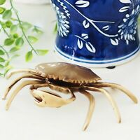 Brass Crab Vintage Style Trinket Box Decorator Hamptons Coastal Home Decor