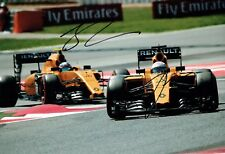 Jolyon PALMER & Kevin MAGNUSSEN SIGNED Renault F1 Photo AFTAL Autograph COA