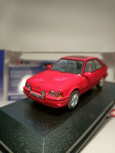 NEW SOLD OUT VANGUARDS 1/43 RED 1989 FORD ESCORT MK4 XR3i RIGHT HAND DRIVE NLA