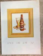 Vintage Schlitz Beer Menu Cover Advertising Framable New Old Stock 1951