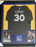 "Stephen Curry Signed Framed ""Slate Night"" Swingman Jersey - Steiner COA"
