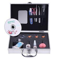 Pro False Eyelash Extension Kit Eye Lashes Pro Makeup Kit Set with Silver Case
