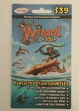 Wizard 101 Fantastic Voyage Gauntlet Game Card Crowns U MUST activate at Walmart