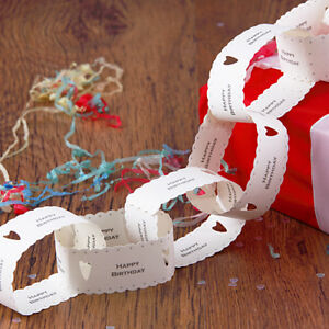 East of India Paper Chain Kit Kids Adult Birthday Party HAPPY BIRTHDAY 3 metres
