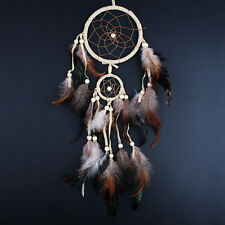 White and Brown Medium size Indian Style Dream Catcher Handmade Hanging Decor