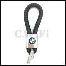 Llavero BMW de cuero trenzado negro gran calidad de Llaveros