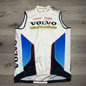 Volvo Cannondale Pro Cycling Sleeveless White Vest XL XLarge Made in USA
