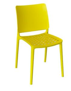 4x Holey Chairs - Yellow - Perfect For Outdoor Dining