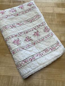Simply Shabby Chic Rosalie Garden Rose Striped Pillow Sham