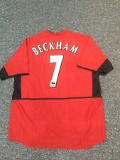 2002 authentic Nike Manchester United home football shirt beckham 7 men's Xl