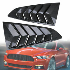 2pcs Window Louver Quarter Side Scoop Cover For Ford Mustang 2015 2016 2017 2018