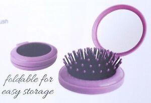 1 Piece Metal Pik Comb or Travel Brush w/Mirror Foldable Style Travel Detangle