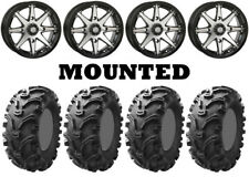Kit 4 Kenda Bearclaw K299 Tires 26x9-12/26x11-12 on STI HD10 Machined Wheels IRS