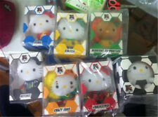2014 McDonald's World Cup Brazil HELLO KITTY Set 7 Plush Doll w/t PACK BOX RARE