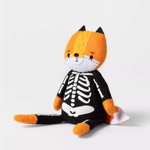 2021 Halloween Shelf Sitter Trick-or-Treat Skeleton Fox Figurine Target Hyde Eek