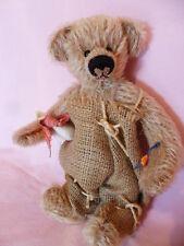 Künstlerteddy Bär Teddybär  Bear HANS IM GLÜCK mit seiner GANS Clemens