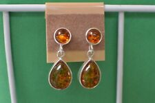 6.87ct Baltic Amber Earrings Fine 925 Sterling Silver ~ Nice Dangle