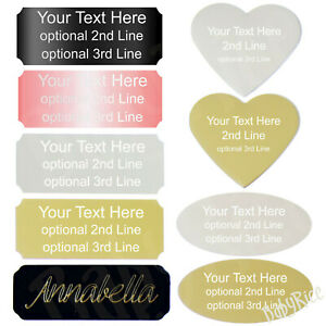 Engraved Plaque - Silver Rose Gold Black Rectangle Heart Oval Plaques Engraving