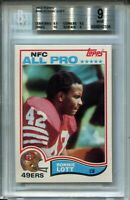 1982 82 Topps Football #486 Ronnie Lott 49ers Rookie Card RC BGS Graded Mint 9