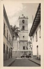TEGUCIGALPA, HONDURAS, CATHEDRAL & STREET VIEW, REAL PHOTO PC c 194o's